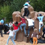 kids climbing together j k wright memorial playground guerneville california