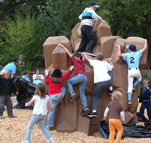 Kids on climbing structure ~ J K Wright Playground