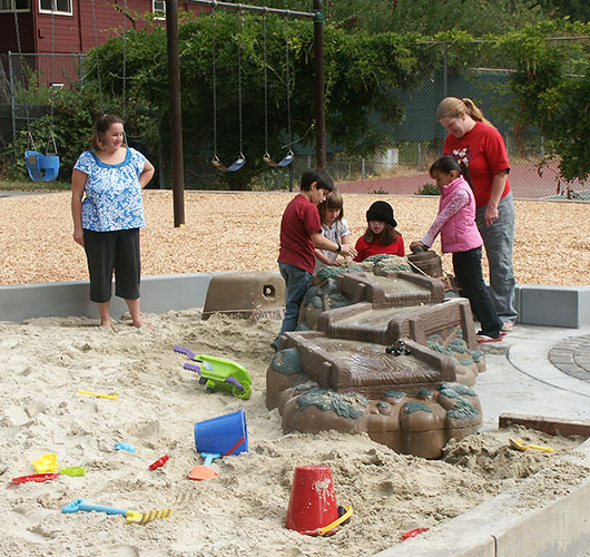 Kids & Moms ~ J K Wright Playground sand sluice
