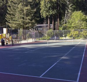Photo of tennis courts pacheo park guerneville california