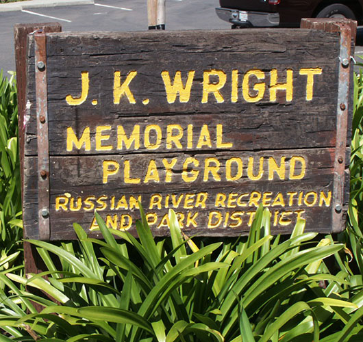 J B Wright Playground Sign
