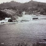 Vintage black and white of photo johnsons beach guerneville ca early 20th century photo