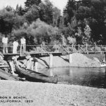 Historic Gallery Archive: Johnson's Beach: Canoe Launch (1929)