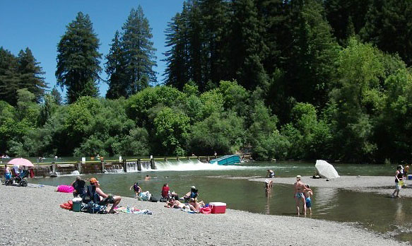 Summer Day at Johnson Beach on the Russian River