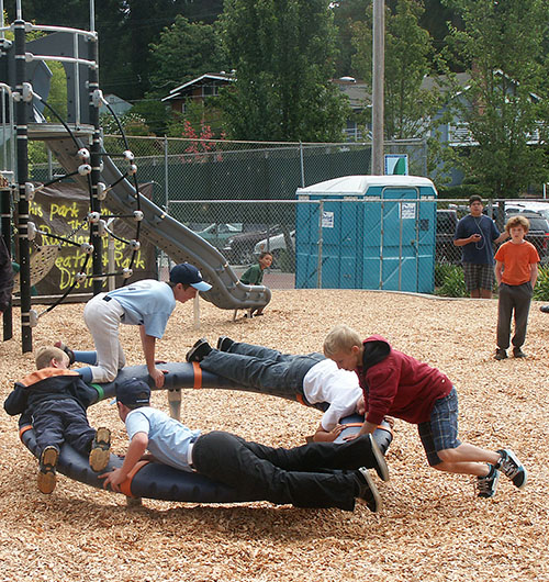 Big Kids on spinner ~ J K Wright Playground