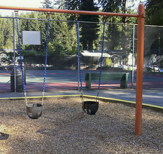Toddler Swings near Henry N Pacheo Park Tennis Courts