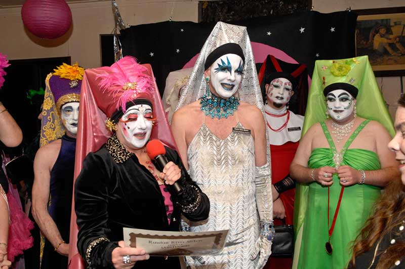 Photo of Russian River bingo participants in costume