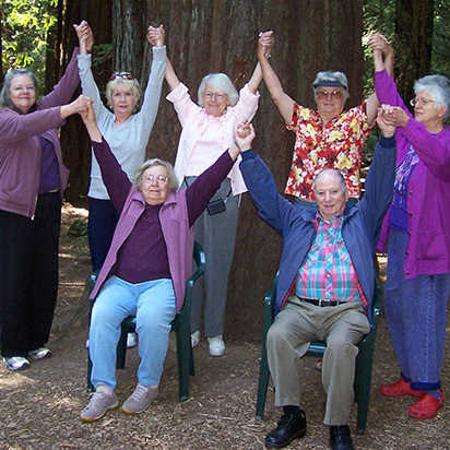 Yoga in the Redwoods participants